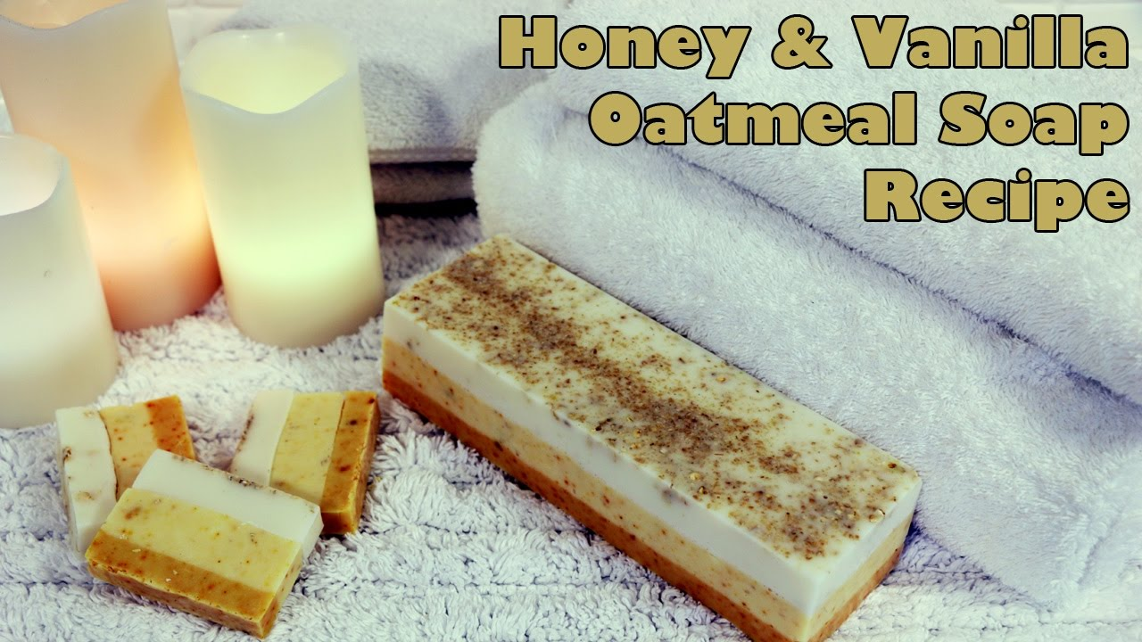 Luxurious Honey and Vanilla Oatmeal Soap DIY Recipe