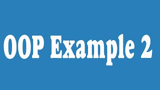 08 _ Python OOP Example 2  (Arabic)