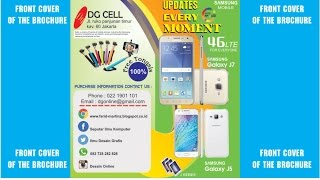 Coreldraw Tutorial - Brochure Design (Smartphone Samsung J5 & J7) Front Cover Part 1