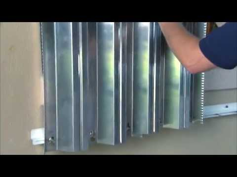 Hurricane Preparedness: Metal Storm Shutter Installation