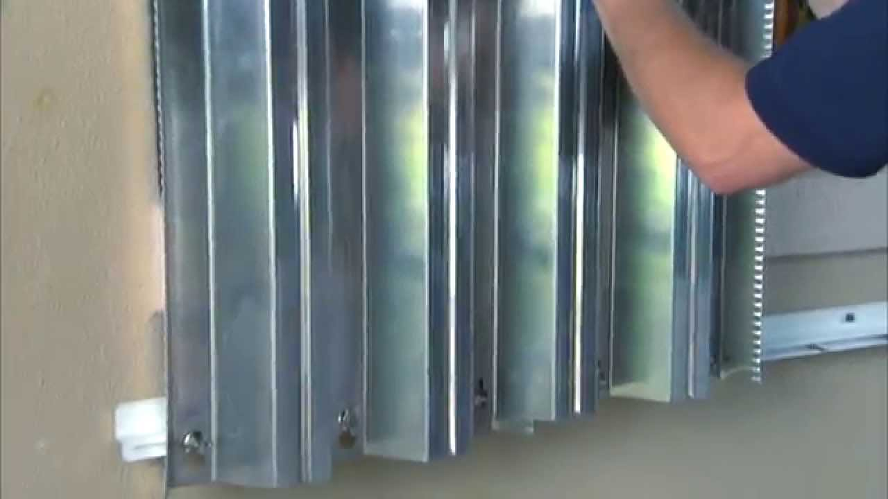 Hurricane Preparedness Metal Storm Shutter Installation Youtube