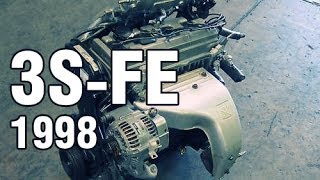 Normal sound of properly operating 3S-FE engine / Работа двигателя 3S-FE Toyota