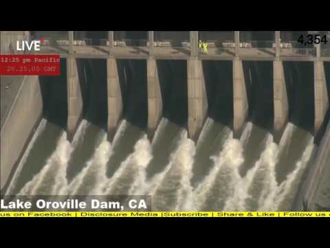 Oroville Spillway Coverage | Outflow Shutdown | 2-27-17