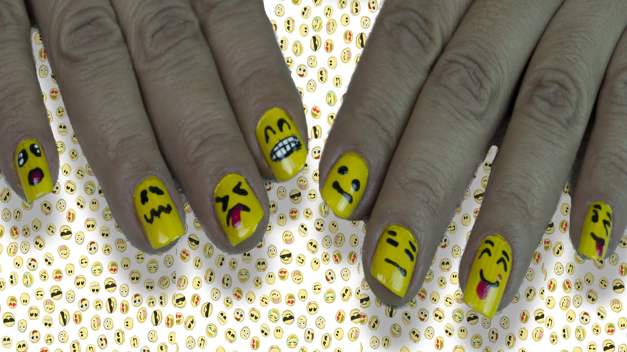 Como Decorar Tus Uñas Como Emojis (Tutorial) - YouTube