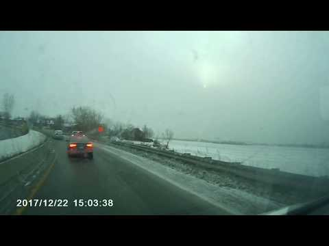 Dash Cam, Algoma Dry Cargo ship in to the icy channel