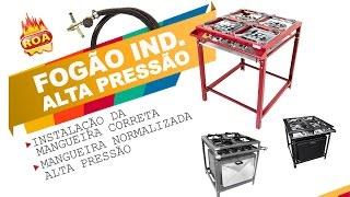 Fogão Industrial Alta Pressão - Instalação da Mangueira Normalizada - Metalúrgica Roa