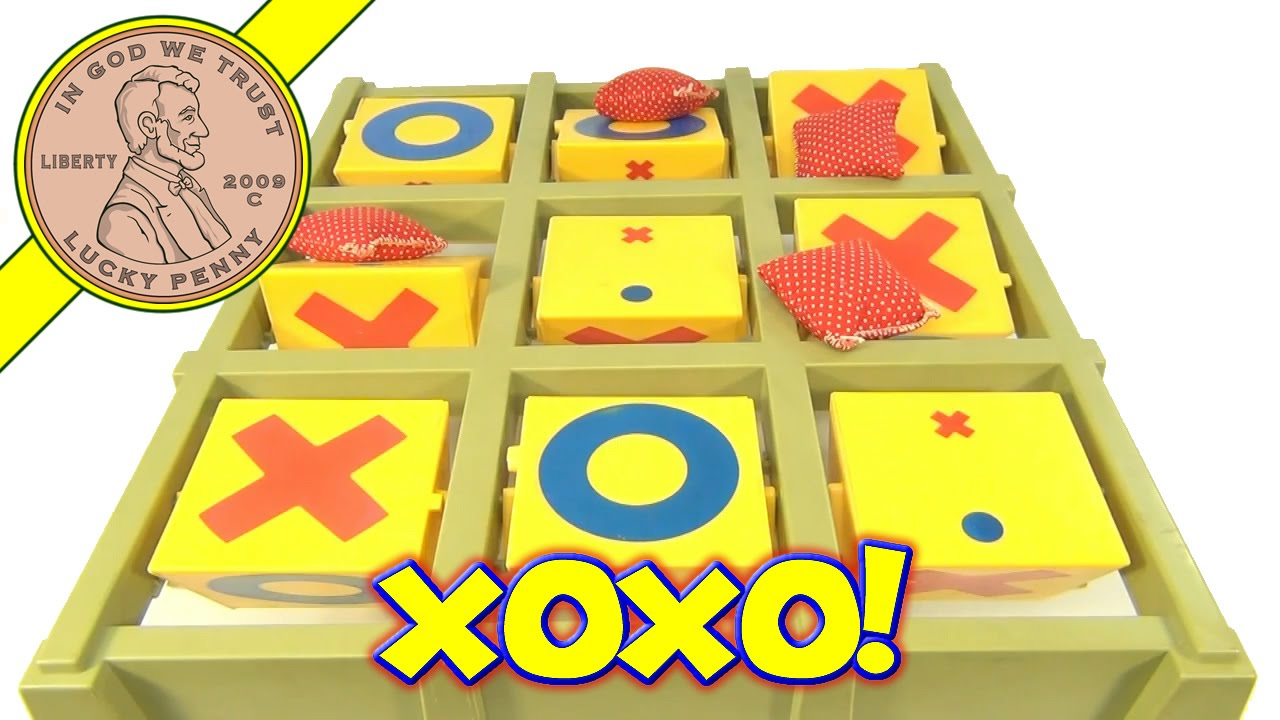 vintage tic tac toe toss across game with bean bags by ideal toys youtube - Bean Bag Toss Game