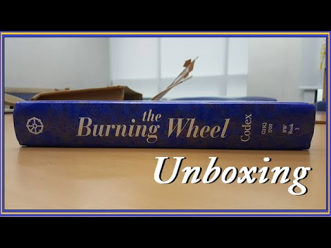 burning wheel codex unboxing