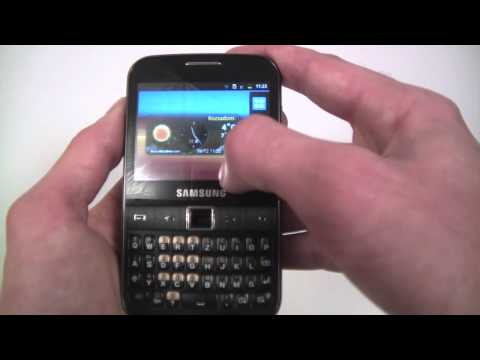 Samsung Galaxy Y Pro unboxing and menu overview