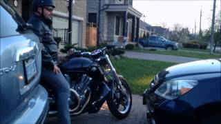 2014 harley v rod muscle idle and acceleration exhaust sound