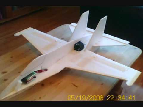 RC F-18 6mm Depron built Jet from scratch