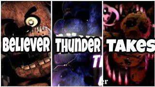 FNAF ~ Believer Thunder Takes [Lyrics PL/ENG]
