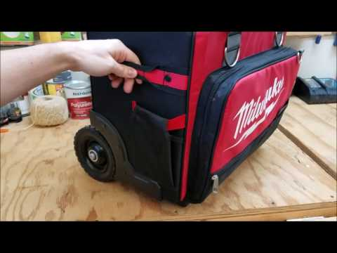 """Milwaukee 18"""" Jobsite Rolling Toolbag Review"""