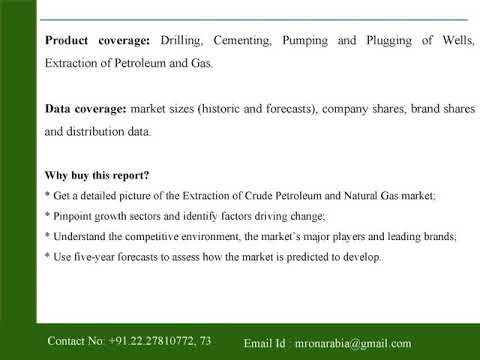 Extraction of Crude Petroleum and Natural Gas in Saudi Arabia