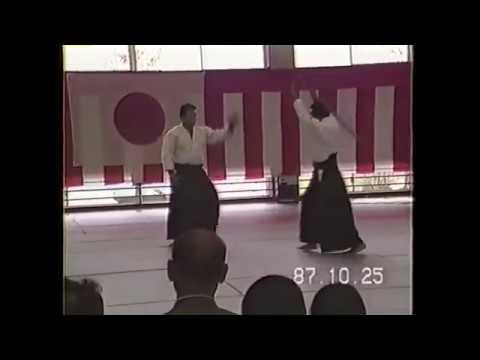 Aikido Master Saito Hitohira Sensei Iwama Aikido Demonstration Ibaraki Enbu 1987