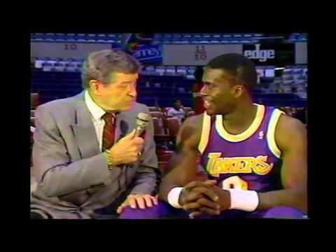 Orlando Woolridge/Chick Hearn Interview (4-21-1990)