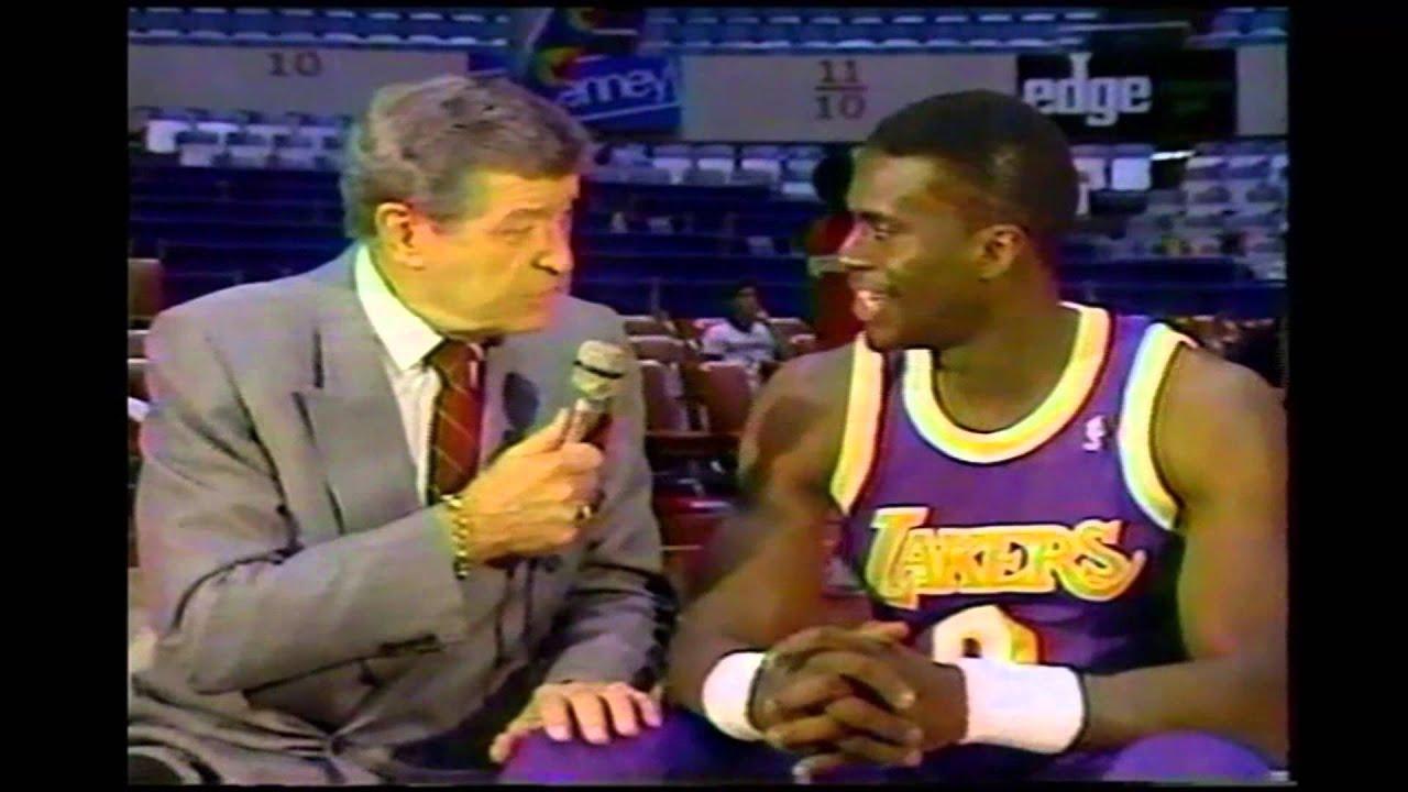 Orlando Woolridge Chick Hearn Interview 4 21 1990
