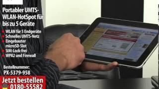 TREKSTOR Portabler UMTS-WLAN-HotSpot für bis zu 5 Geräte