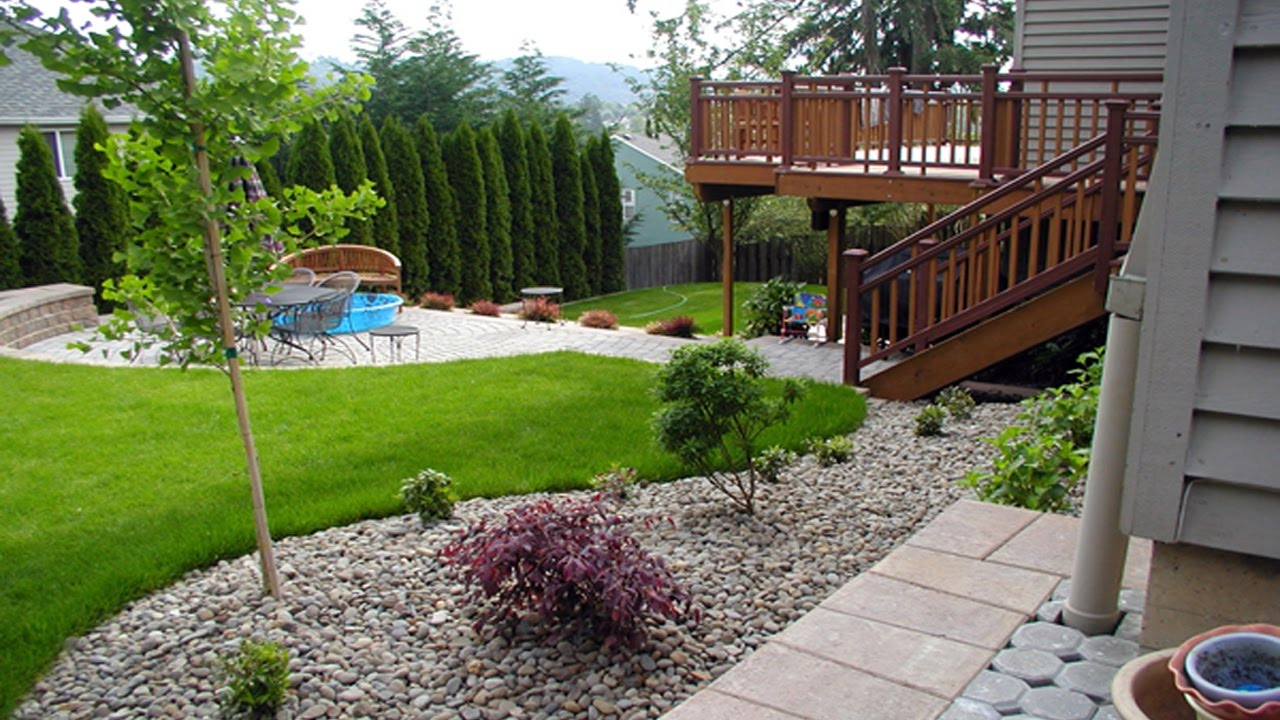 Simple Small Backyard Landscaping Ideas - YouTube on Small Landscape Garden Design  id=28770