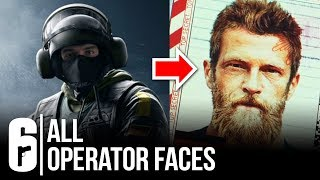 ALL OPERATOR FACES REVEALED SO FAR - Rainbow Six Siege (Including Leaked IQ/Lion/Bandit/Montagne)