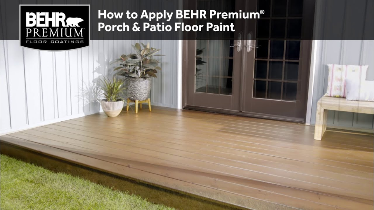 Great How To Apply BEHR Premium® Porch U0026 Patio Floor Paint   YouTube