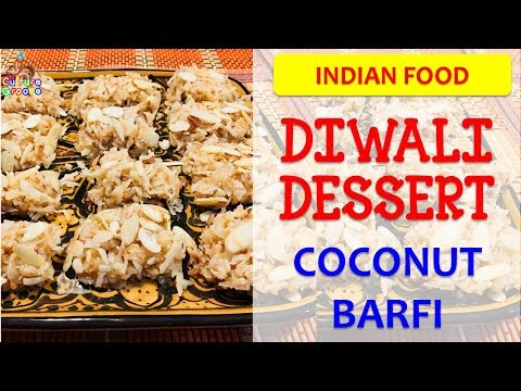 Easy Diwali Sweets Recipe - Coconut Barfi - Try With Your Kid!