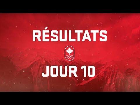 Résultats du jour 10 - Équipe Canada