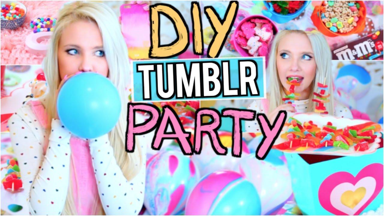 DIY Tumblr Birthday Party Easy Gifts Treats