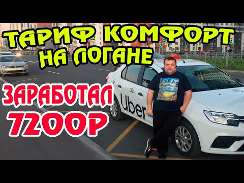 Яндекс такси. Рено Логан в тарифе комфорт. Касса 7200 рублей