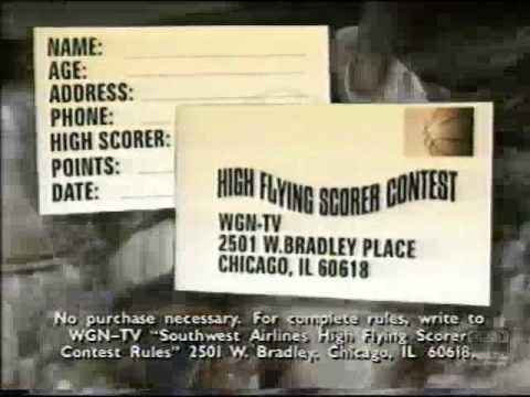 Chicago Bulls High Flying Scorer Contest   WGN   Promo   1997