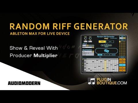 Random Riff Generator PRO From Audiomodern – Show & Reveal