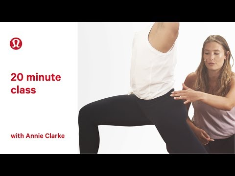 Yoga for Beginners | 20 Minute Class with Annie Clarke | lululemon