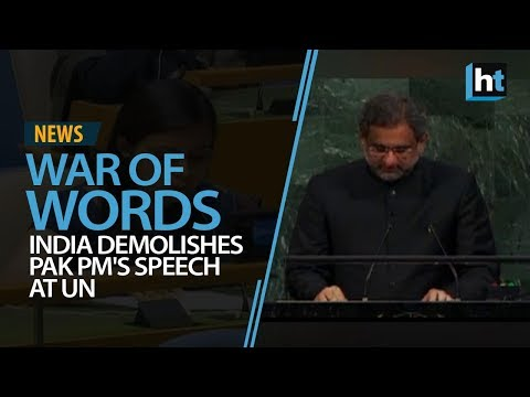 India demolishes Pakistan PM Abbasi's speech at UN
