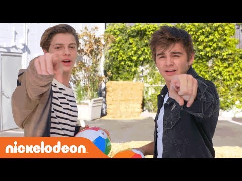 """02103611 Start your summer off right with Nick's Summer Challenges! Jace Norman and  Jack Griffo battle it out in the """"Don't Blow This Challenge;"""" Riele Downs,  ..."""