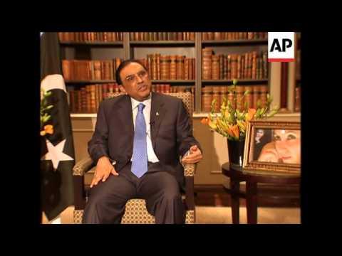 Exclusive interview with Pakistan's President Zardari