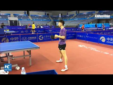 [Training][20170826] China Xinhua Sports fb - MA Long  Training | 2017 National Games