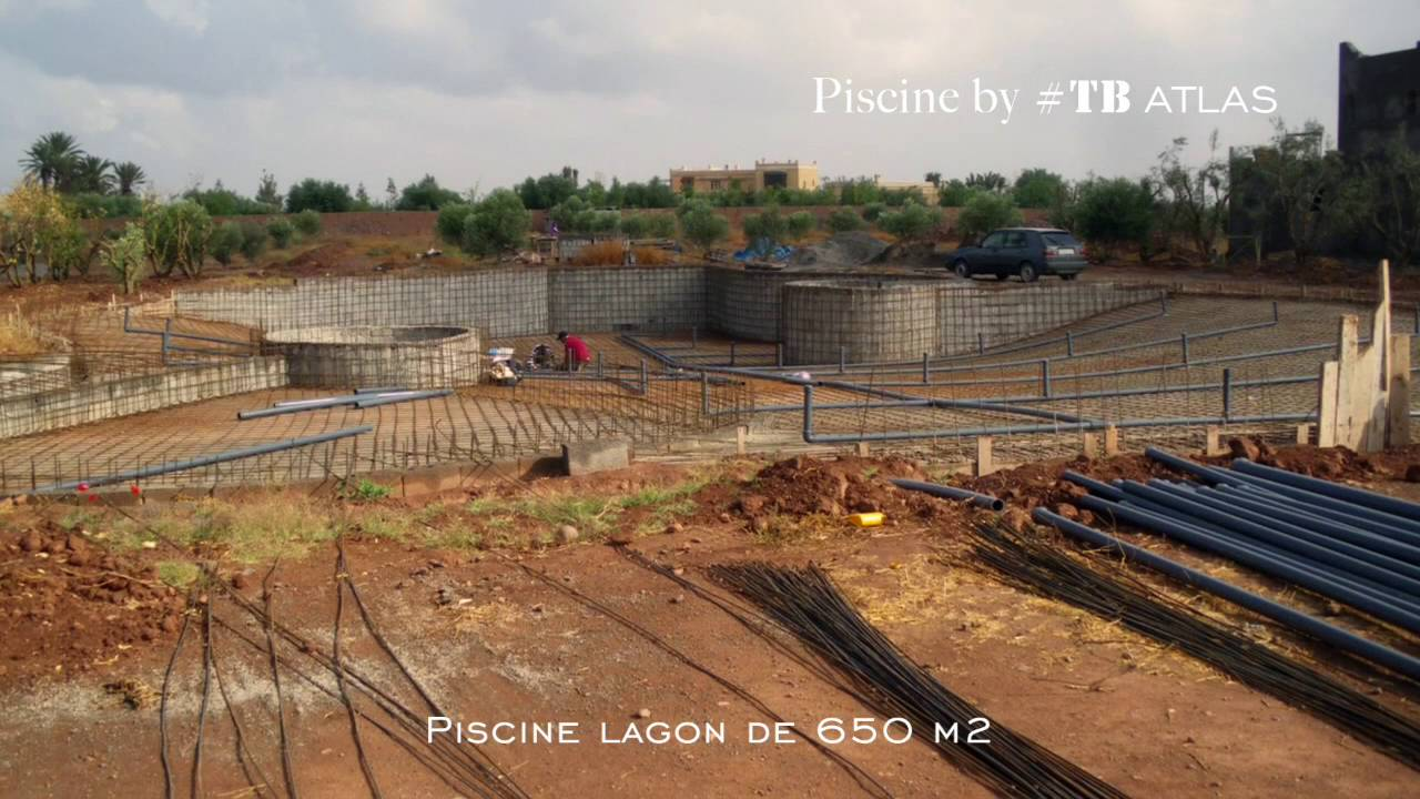 Souvent Construction d'une piscine lagon TB ATLAS - YouTube BS61