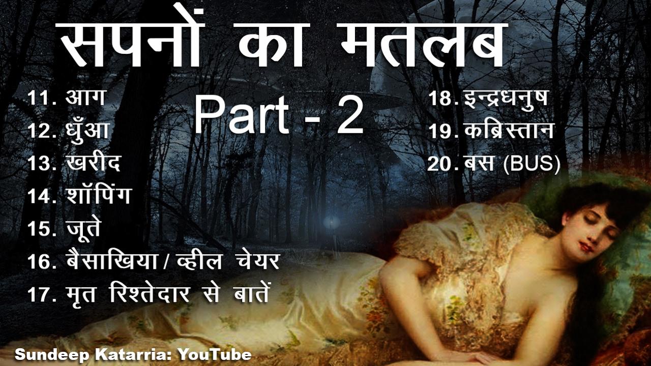 सपनों का मतलब और उनका फल Part 2 Meaning of Dreams Hindi