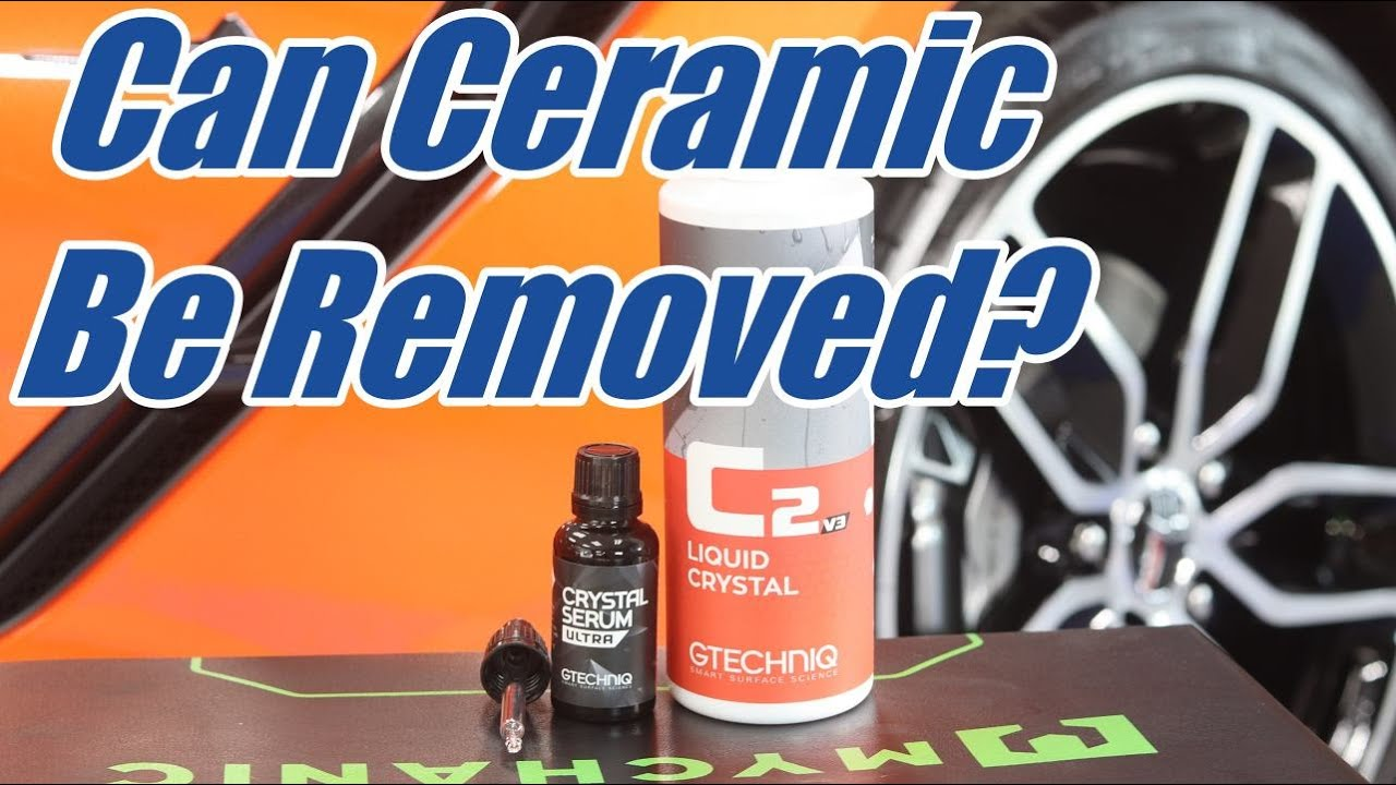Can a ceramic coating be removed? What to consider with this question...
