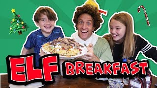 Eating the Famous Elf Breakfast
