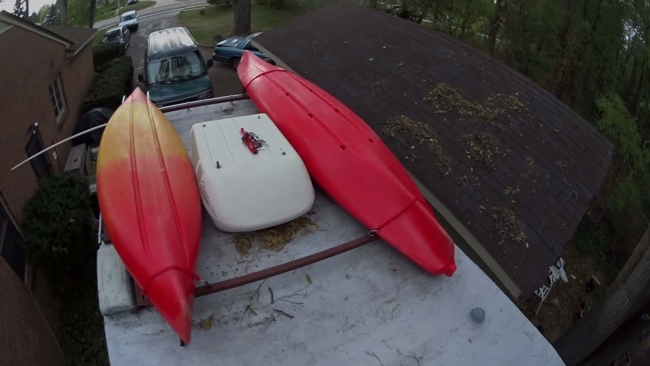kayaks rv each at roll rig to the they camping rest rack for racks ready of kayak life