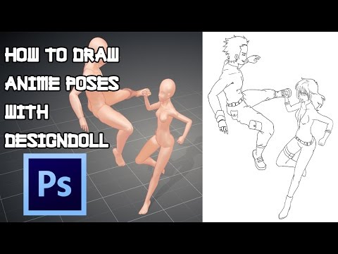 How To Draw Anime Poses With DesignDoll - Photoshop Tutorial 2