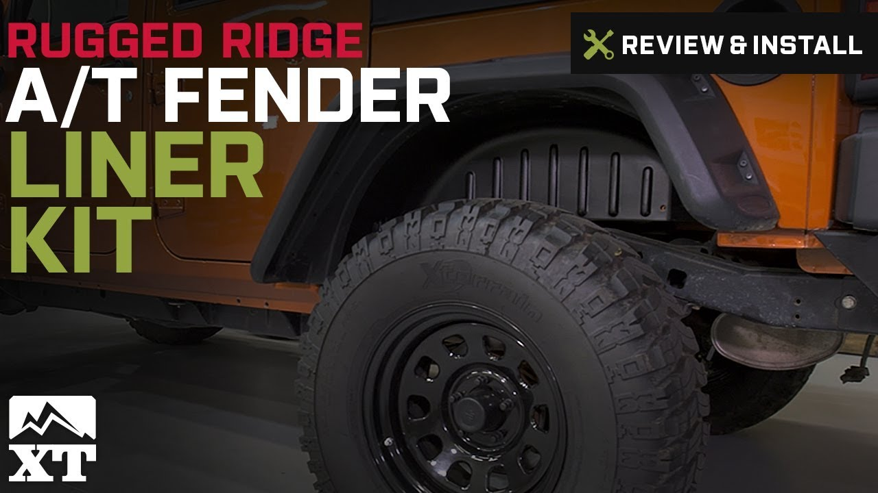 Wrangler Rugged Ridge A T Fender Liner Kit 4 Pieces W Hardware 2007 2017 JK Review Install