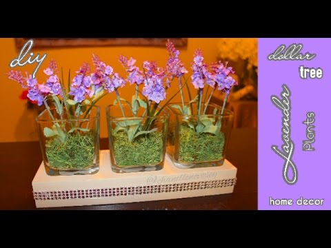 Diy Dollar Tree Faux Lavender Plants In Glass Vases Under 10