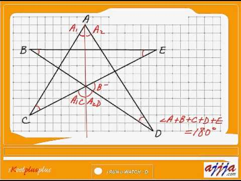 Geometry - Sum of Angles in a Star and Heptagon   SAT 25