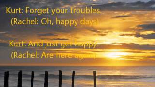 Glee- Happy Day are Here Again/Get Happy Lyrics