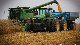 Big Machines Harvesting Corn in Western New York