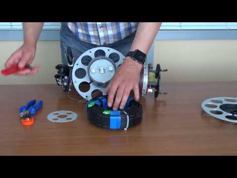 видео: Навивная технология: установка кабельной бухты 45 мм на машинку wf-350