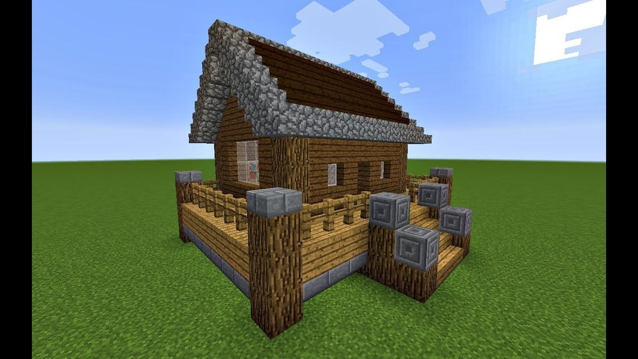 Simple House With a Porch: A Minecraft House Tutorial - YouTube