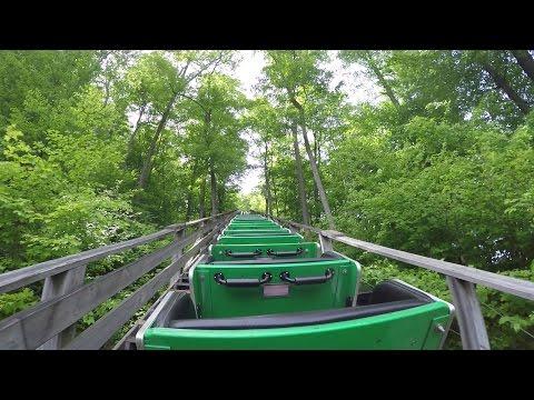 Boulder Dash Wooden Roller Coaster Back Seat POV 60FPS Lake Compounce